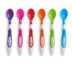 6 cucharas infantiles de punta blanda