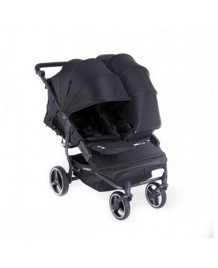 Silla de Paseo Gemelar Baby Monster Easy Twin 3S Chasis Negro