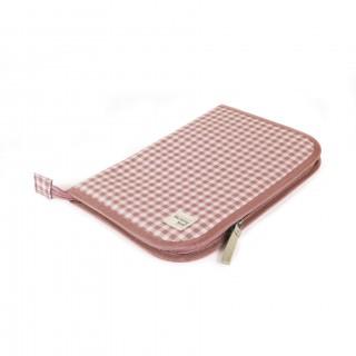 Portadocumentos I Love Vichy Pink