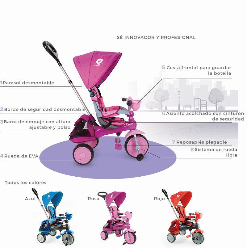 Triciclo para bebé evolutivo QPlay Ranger Plus